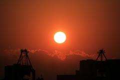 Japan Nature - Sunset into the Flame-like Cloud
