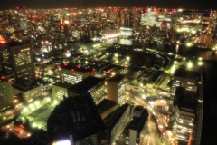 Japan Landscape - Night View from the Caretta Shiodome