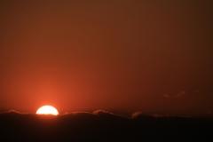Half-showing Sunset at Tama River