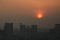 Sunset from Marunouchi Building with Particulates