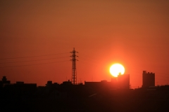 Sunrise and Transmission Tower