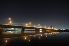 Tamagawa Ohashi Bridge in the Dark
