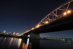 Marukobashi Bridge in the Dark
