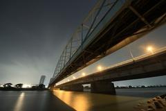 Cloudy Sky and Tamagawa Ohashi Bridge