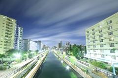 丸八橋からの夜景