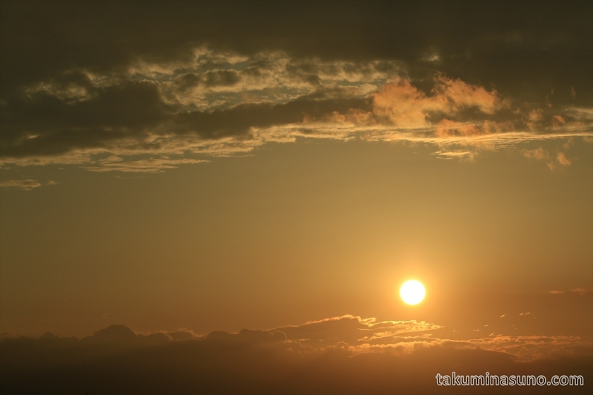 Sunset from Tama River Japan 02