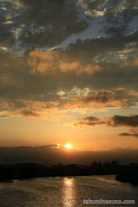 Sunset from Tama River Japan 04