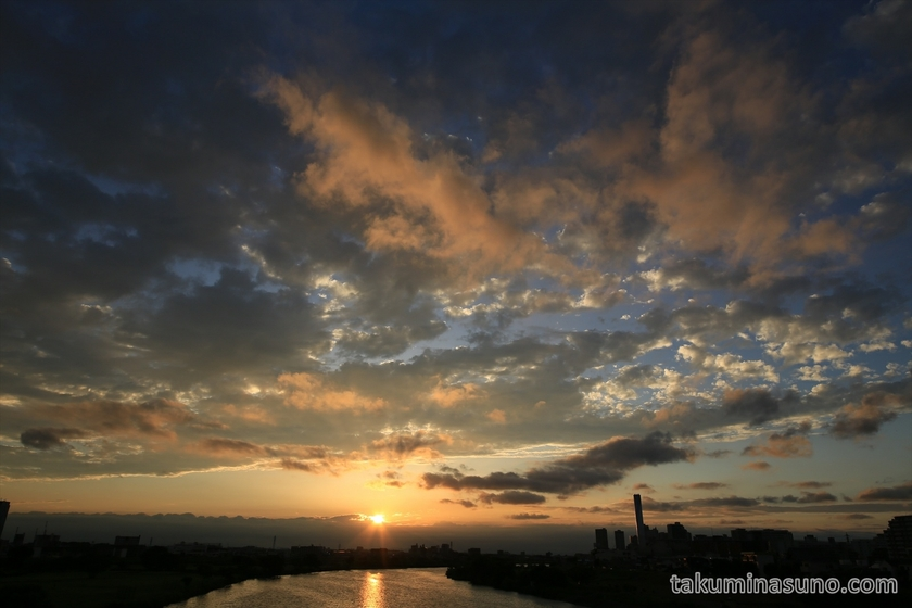 Sunset from Tama River Japan 05