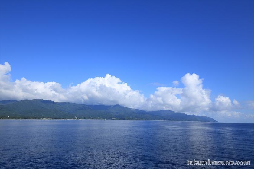 First Glimpse at Sado Island
