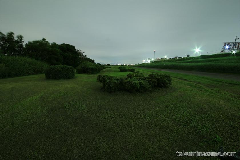 Nightscape at Riverside of Tama River