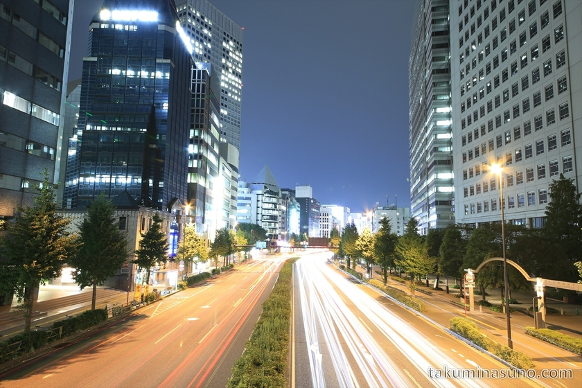 Nightscape of the Avenue of Shinjku