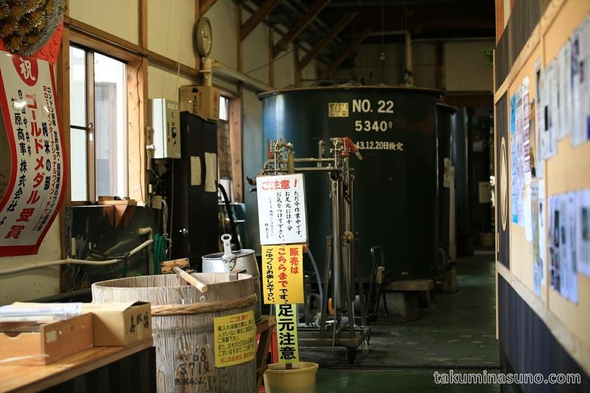 Sake Tank of Obata Sake Brewery in Sado Island