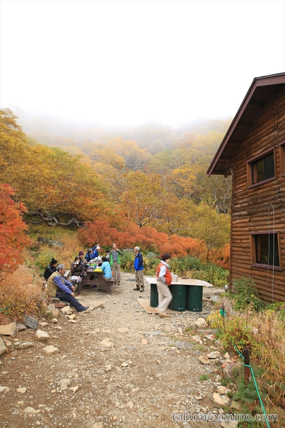 Staying at hut of Mt Senjougatake