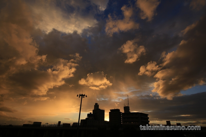 Overwhelming sunset from Niigata