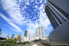 Autumn Skyscape from Shinjuku - Cirrocumulus Clouds