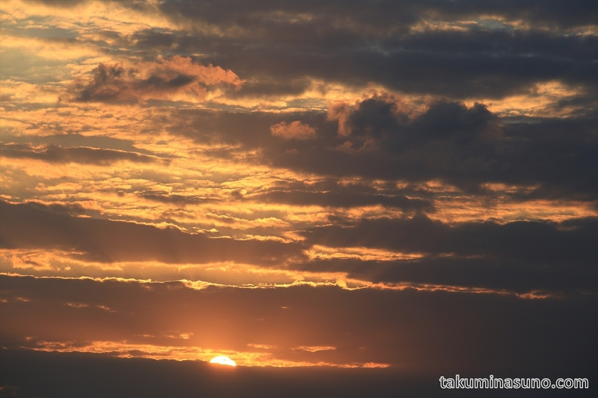 Clouds at the sunset time of Tama River