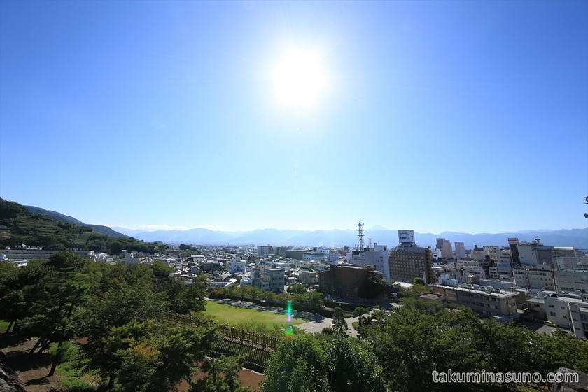 Firest view from Kofu Castle Trace