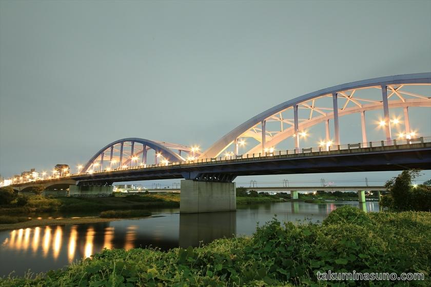 Marukobashi Bridge in the Cloudy Night