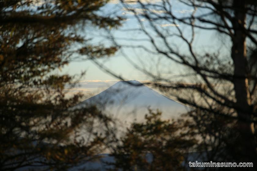 Mt Fuji from the Peak of Mt Mutsuishi at Okutama