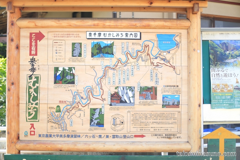 Signboard of Okutama Old-time Trail