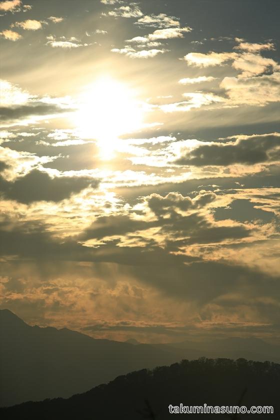 Sunset from the Peak of Mt Mutsuishi at Okutama 01