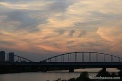 Tamagawa Ohashi Bridge at Dusk
