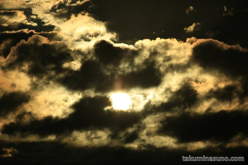Telephoto of sunrise from Tama River