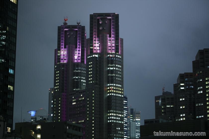 Tokyo Metropolitan Tower in Pink