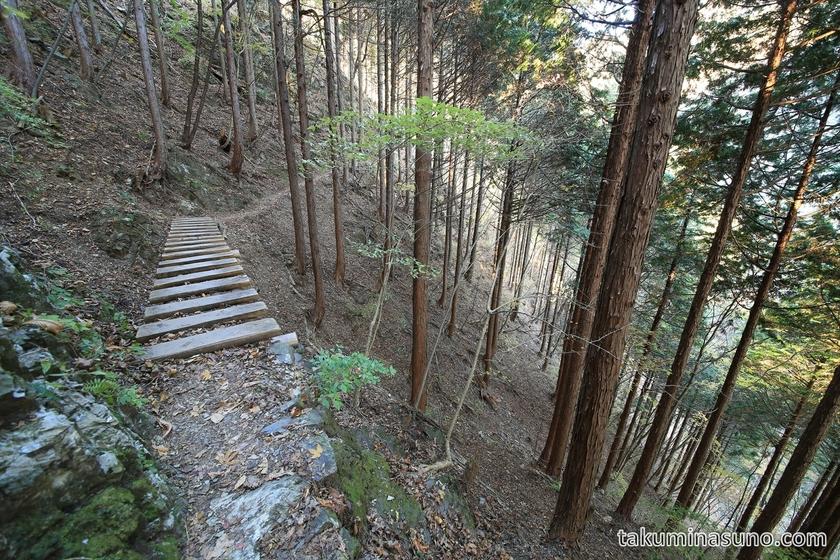 Atmosphere of Mountain Trail to Hyakuhiro-no-taki Waterfall