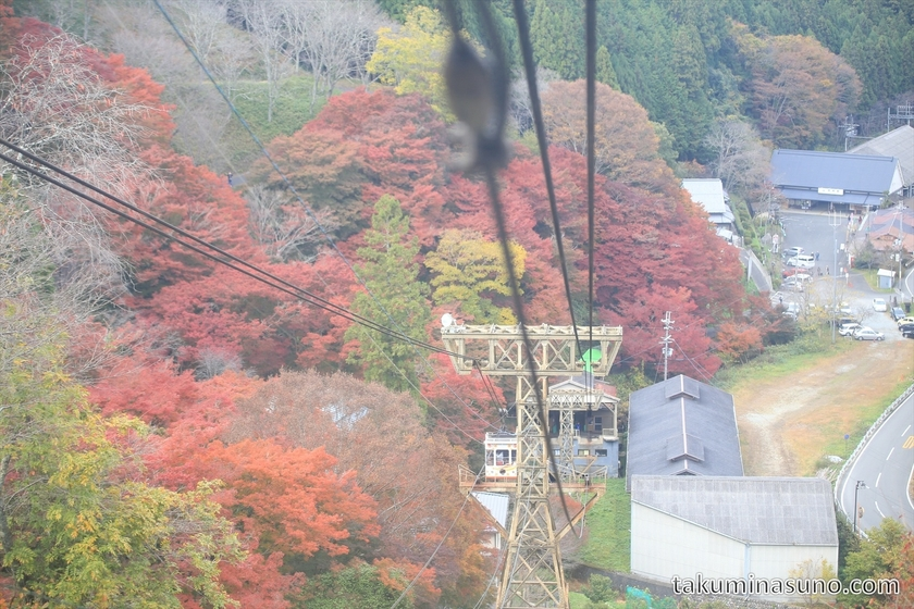 Autumn Colors from Cable Train of Yoshino