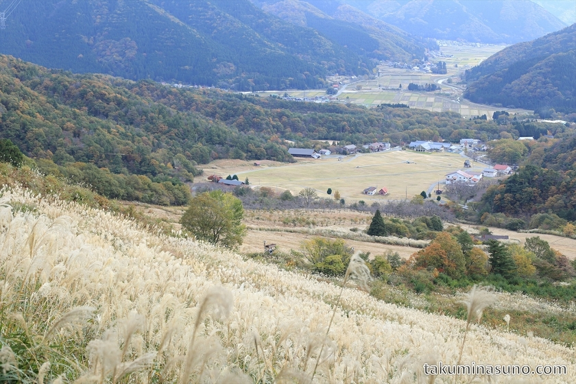 Looking Down from the Top of Makino Highland