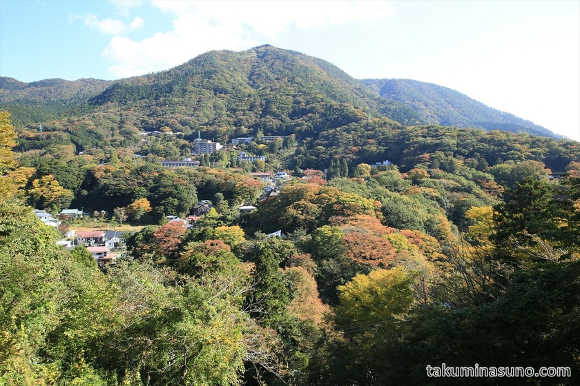 Mountain View of Hakone with autumn colors