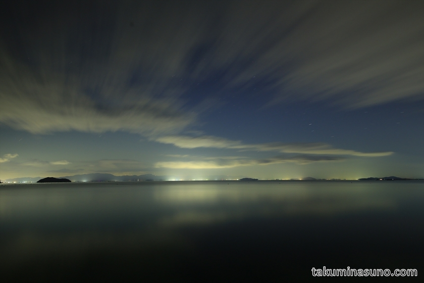 Nightscape of Lake Biwa
