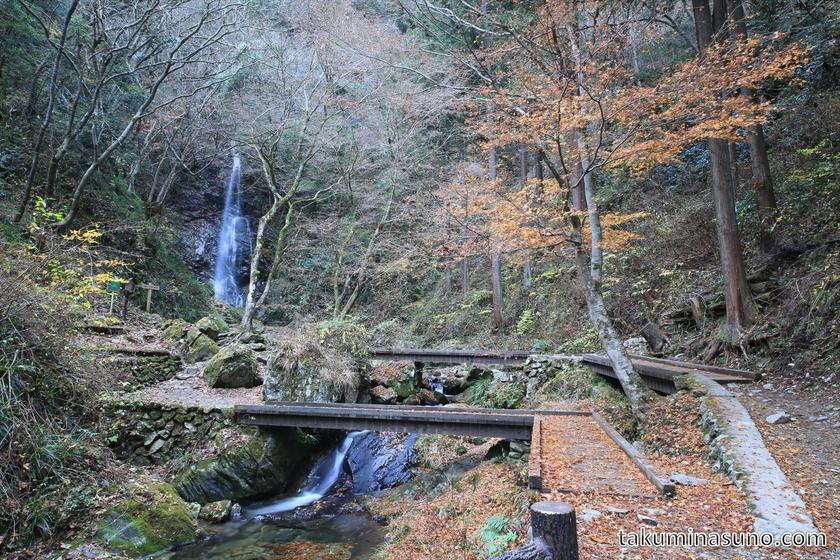 Landscape of Hossawa-no-taki Waterfall