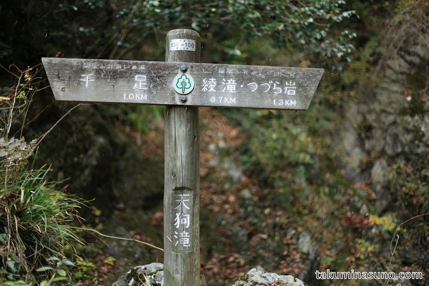 Signboard to Ayataki Waterfall