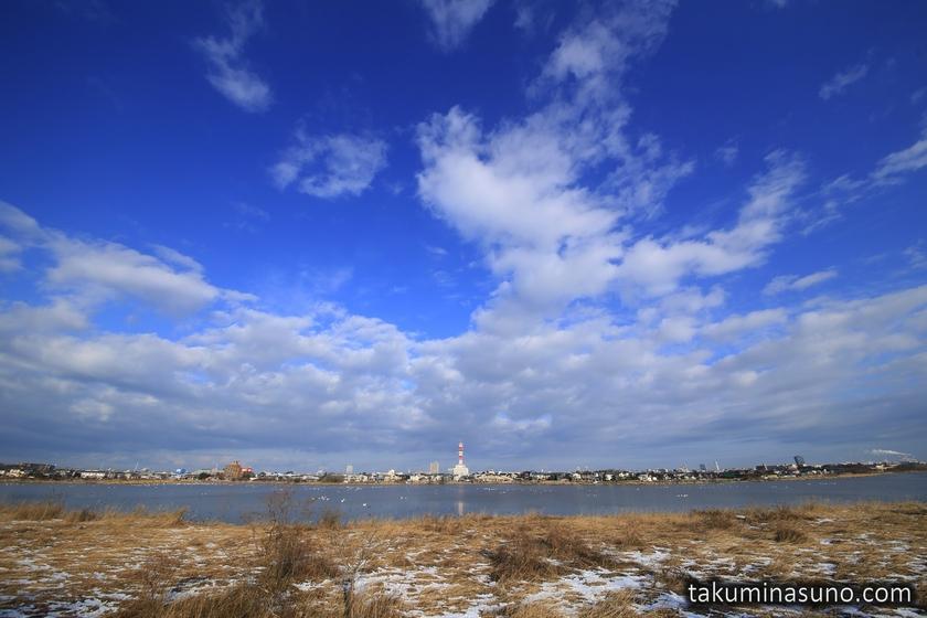 Skyscape of Lake Toyanogata in Niigata