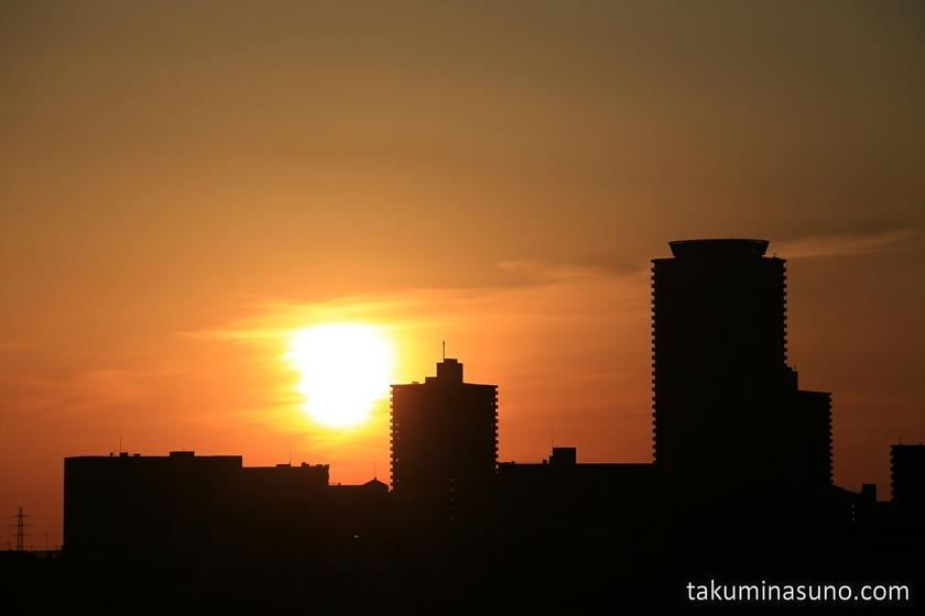 Sunset over Tall Buildings