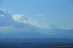 Fluffy Clouds and Mt. Fuji from Tokyo Metropolitan Tower
