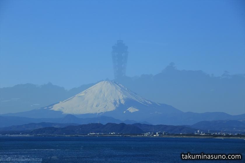 Mt Fuji with Enoshima Silhuette