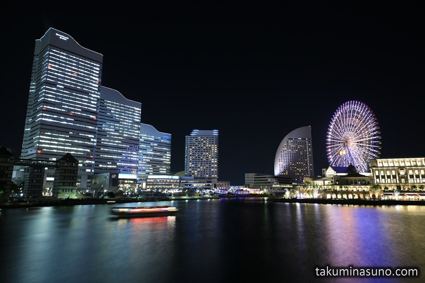 Nightscape of Yokohama from Kishamich Promenade
