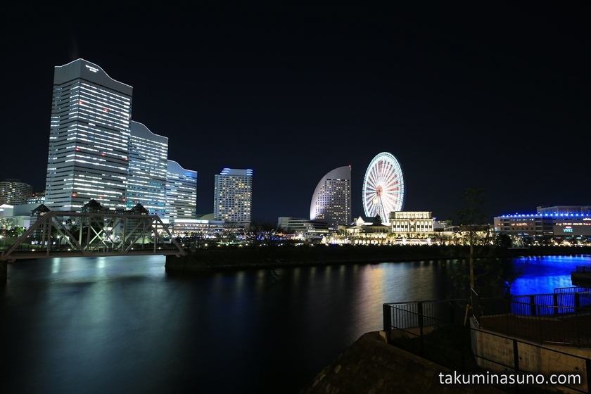 Nightscape of Yokohama from Sakuragicho Station
