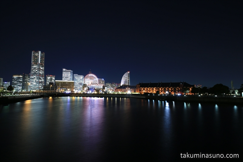 Nightscape of Yokohama from Zounohana Breakwater