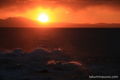 Overwhelming Waves and Lucky Sunset over Jogashima Island