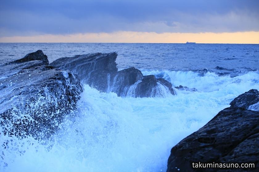 White Spray at Jogashima Island