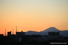 Mt. Fuji's Shadow from My Town