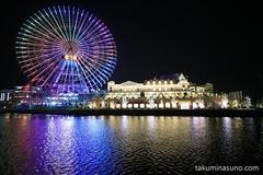 Trying to Shoot Capricious Rainbow Ferris Wheel of Yokohama