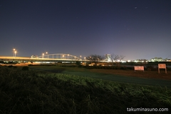 Starscape over Tama River - Hoping to See More Beautiful One in the Rest of This Winter
