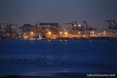 Orange Lights Around Ports and Factories - the Nightscape from Jonanjima Seaside Park