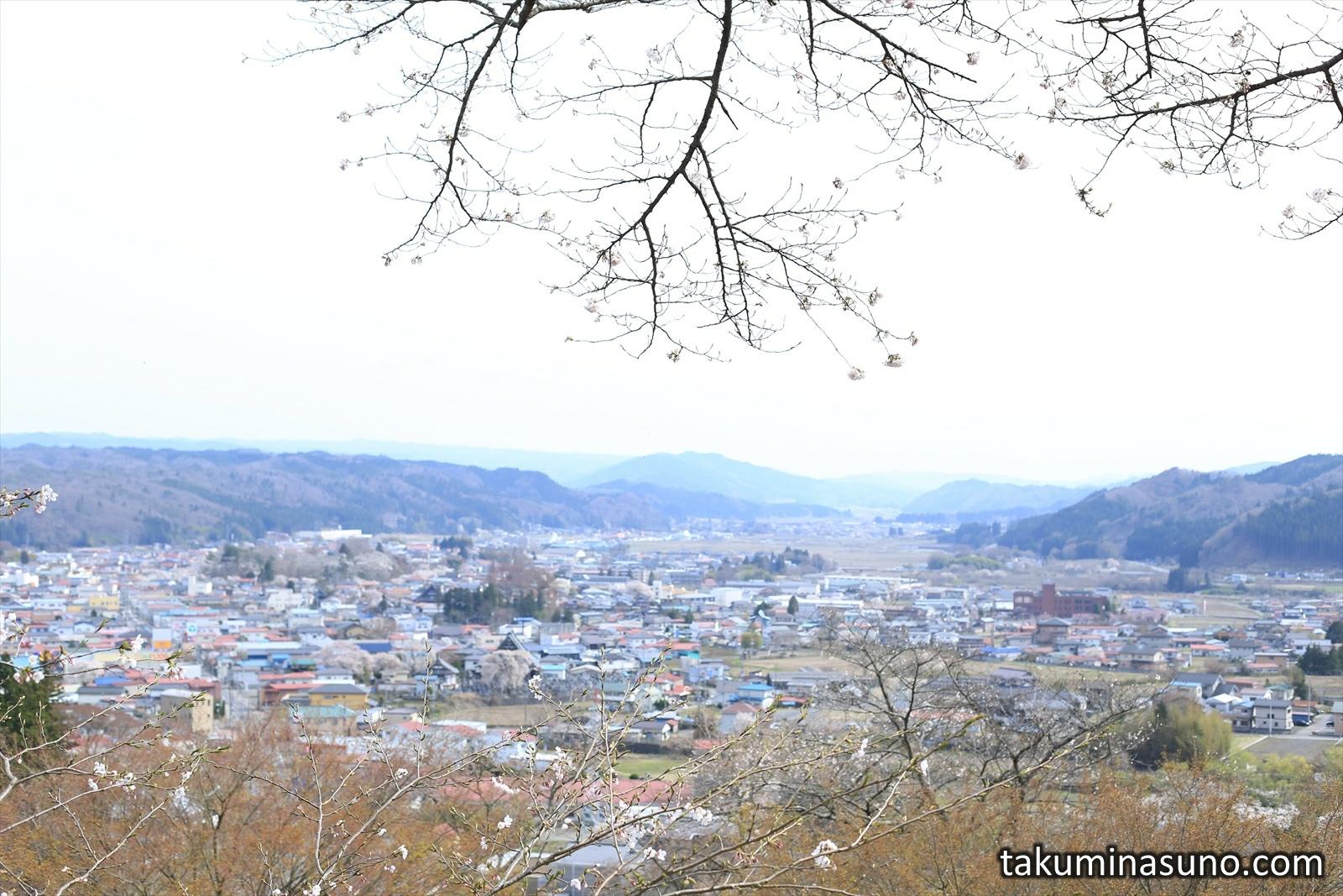 View of Tanagura Town from Akadate Park