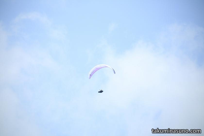 Paraglider from Mt Matsuda